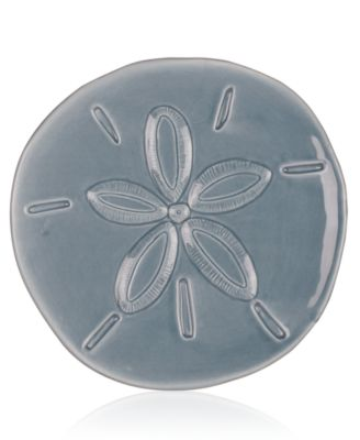 Cape Coral Home Gray Sand Dollar Snack Plate