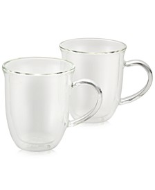 2-Pc. Glass Cappuccino Cup Set