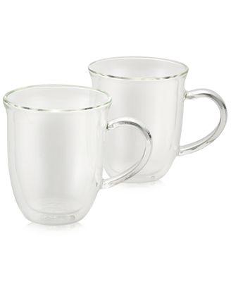 BonJour 2-Pc. Glass Cappuccino Cup Set