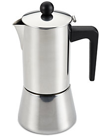 BonJour 6-Cup Stainless Steel Espresso Maker