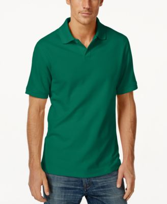Image of Club Room Short Sleeve Solid Estate Performance Sun Protection Polo, Only at Macy's