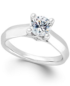 Certified Diamond Solitaire Engagement Ring (1 ct. t.w.) in 14k White or Two-Tone Gold