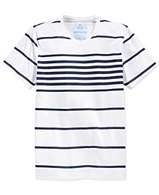 Men's Stripe V-Neck T-Shirt, Created for Macy's