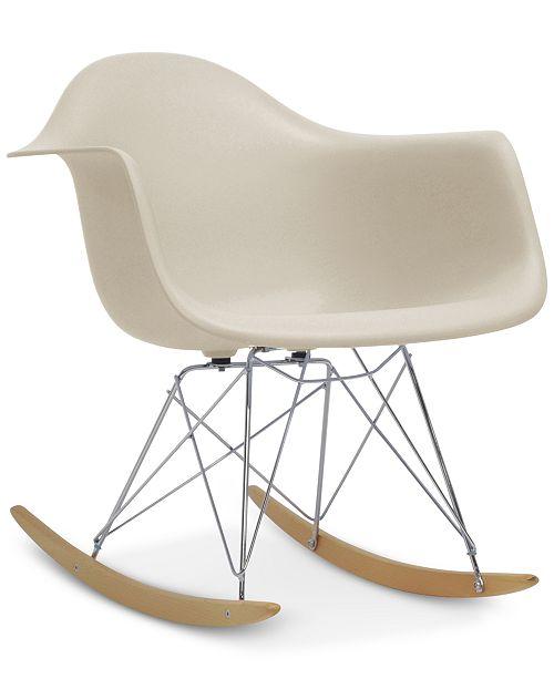 furniture caden mid century modern rocking chair quick ship