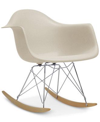 Caden Mid Century Modern Rocking Chair Direct Ship Furniture Macy 39 S