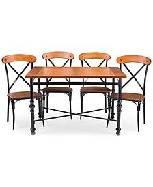 Shilo Wood & Metal 5-Pc. Dining Set