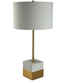CLOSEOUT! Decorator's Lighting Rockport Marble Table Lamp