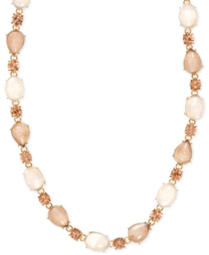 Anne Klein Gold-Tone Multi-Stone Necklace