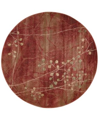 "CLOSEOUT! Somerset Flame Blossom 5'6"" Round Rug"
