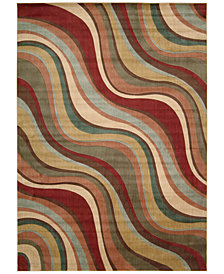 "CLOSEOUT! Nourison Somerset Wave 5'3"" x 7'5"" Area Rug"