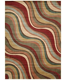 "CLOSEOUT! Nourison Somerset Wave 7'9"" x 10'10"" Area Rug"