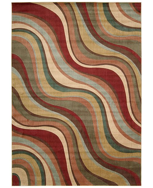 "Nourison CLOSEOUT! Somerset Wave 5'3"" x 7'5"" Area Rug"