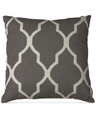 "Medalia Print Linen Blend 18"" Square Decorative Pillow"