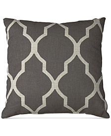 "Elrene Medalia Print Linen Blend 18"" Square Decorative Pillow"