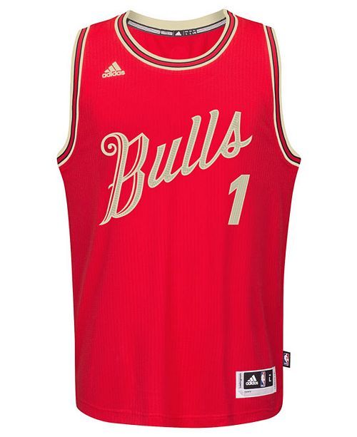 wholesale dealer aab45 d1c14 adidas Men's Derrick Rose Chicago Bulls Christmas Day ...
