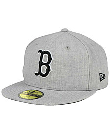 New Era Boston Red Sox Heather Black White 59FIFTY Fitted Cap