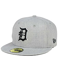 Detroit Tigers Heather Black White 59FIFTY Fitted Cap