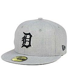 New Era Detroit Tigers Heather Black White 59FIFTY Fitted Cap