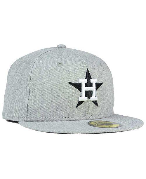 Macys Furniture Outlet Houston: New Era Houston Astros Heather Black White 59FIFTY Fitted