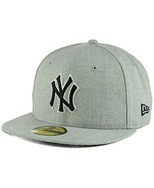 New York Yankees Heather Black White 59FIFTY Fitted Cap