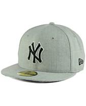 New Era New York Yankees Heather Black White 59FIFTY Fitted Cap bc52e5e61e8