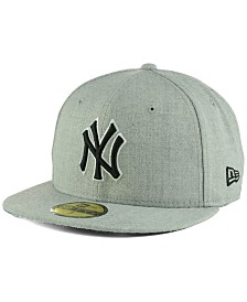 New Era New York Yankees Heather Black White 59FIFTY Fitted Cap