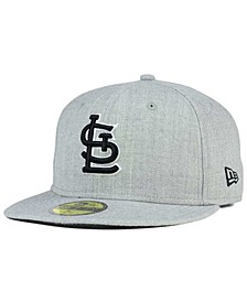 St. Louis Cardinals Heather Black White 59FIFTY Fitted Cap