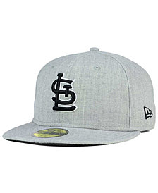 New Era St. Louis Cardinals Heather Black White 59FIFTY Fitted Cap