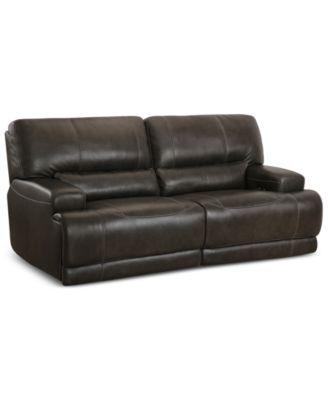 Enjoyable Barington Leather Sofa With 2 Power Recliners With Power Bralicious Painted Fabric Chair Ideas Braliciousco