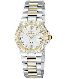 Citizen Women's Eco-Drive Riva Two Tone Stainless Steel Bracelet Watch 26mm EW0894-57D
