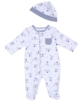 Baby Boys Puppy Toile Coverall & Hat Set