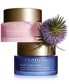 Clarins Multi-Active Day and Night Moisturizers