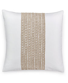 "Hotel Collection Waffle Weave 18"" Square Decorative Pillow, Created for Macy's"