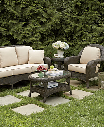 Admirable Monterey Outdoor Wicker 4 Pc Seating Set 1 Sofa 2 Swivel Gliders And 1 Coffee Table Created For Macys Inzonedesignstudio Interior Chair Design Inzonedesignstudiocom