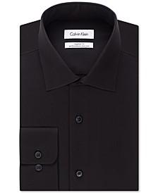 Men's Classic-Fit Non-Iron Performance Herringbone Spread Collar Dress Shirt