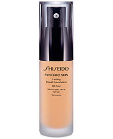 Shiseido Synchro Skin Lasting Liquid Foundation, 1.1 oz.