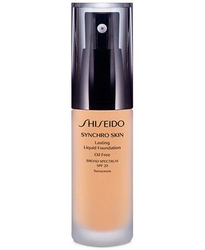 Shiseido Synchro Skin Lasting Liquid Foundation, 1.1 oz.