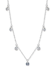 I.N.C. Cubic Zirconia Crystal Drop Necklace, Created for Macy's