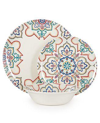 Home Design Studio La Villa Melamine Dinnerware Collection