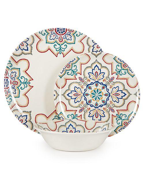 Home Design Studio La Villa Melamine Dinnerware Collection, Created for Macy's