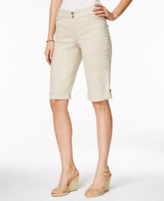 Cuffed Bermuda Shorts, Created for Macy's