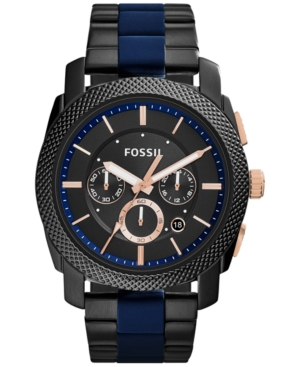 Fossil Men's Chronograph Machine Two-Tone Stainless Steel an