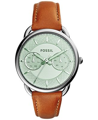 fossil s tailor leather 34mm es3977