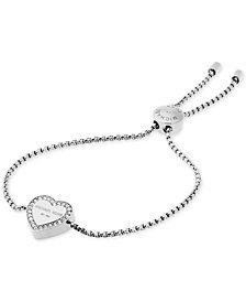 Michael Kors Crystal Heart Logo Slider Bracelet
