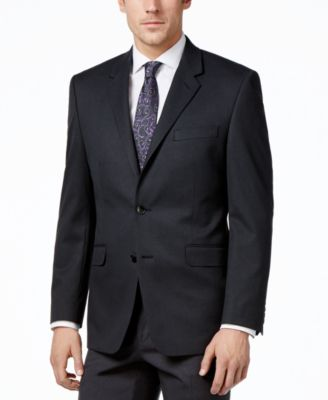 Men's Traveler Charcoal Solid Big and Tall Classic-Fit Jacket, Created for Macy's