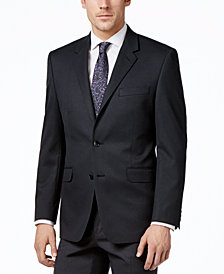 Alfani Men's Traveler Charcoal Solid Classic-Fit Jacket, Created for Macy's