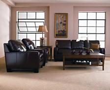 Hampton Leather Sofa Living Room Furniture Collection