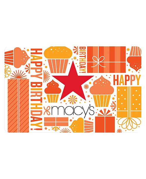 Macys Birthday Gift Card With Letter