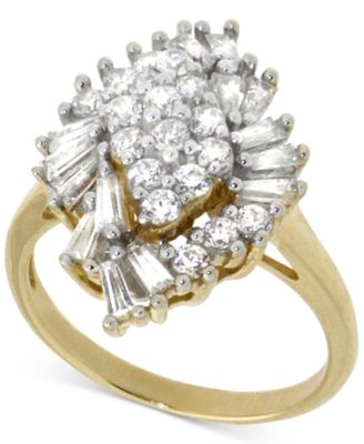 Diamond Cluster Ring (1 ct. t.w.) in 14k Gold, Created for Macy's