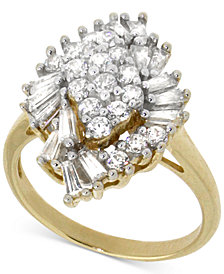 Wrapped in Love™ Diamond Cluster Ring (1 ct. t.w.) in 14k Gold, Created for Macy's